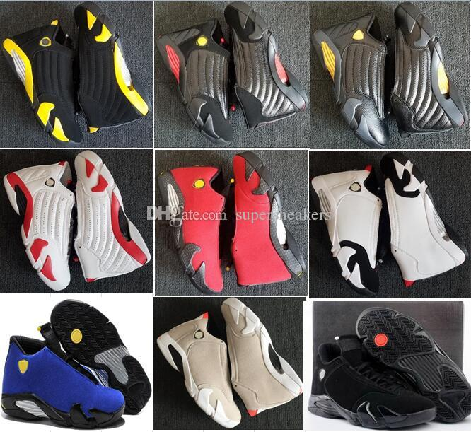 56829f3e0d6bb1 2019 14 XIV Oxidized Green Indiglo Thunder Playoffs Black Toe Fusion  Varsity Red Suede 14s Men Womens Basketball Shoes Last Shot Sport Sneaker  47 From ...