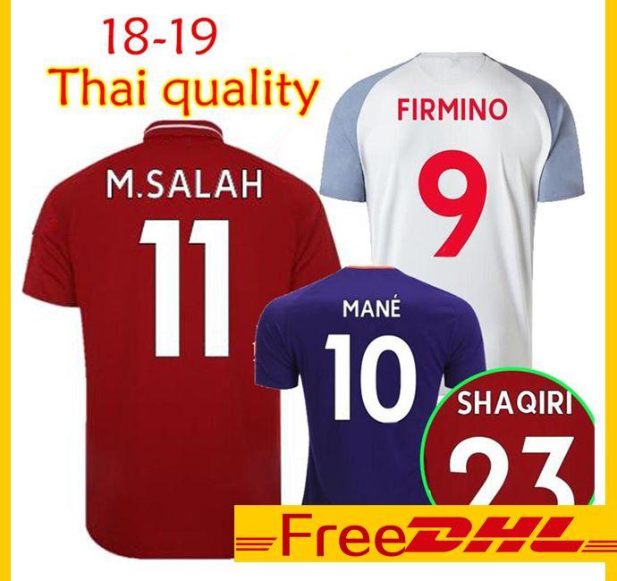 b0616f026a8 2019 DHL Free Thai Quality 2018 19 SHAQIRI M.SALAH KEITA FIRMINO Soccer  Jersey Outdoor T Shirts 18 19 VAN MANE Football Shirts Outdoor T Shirts  From ...