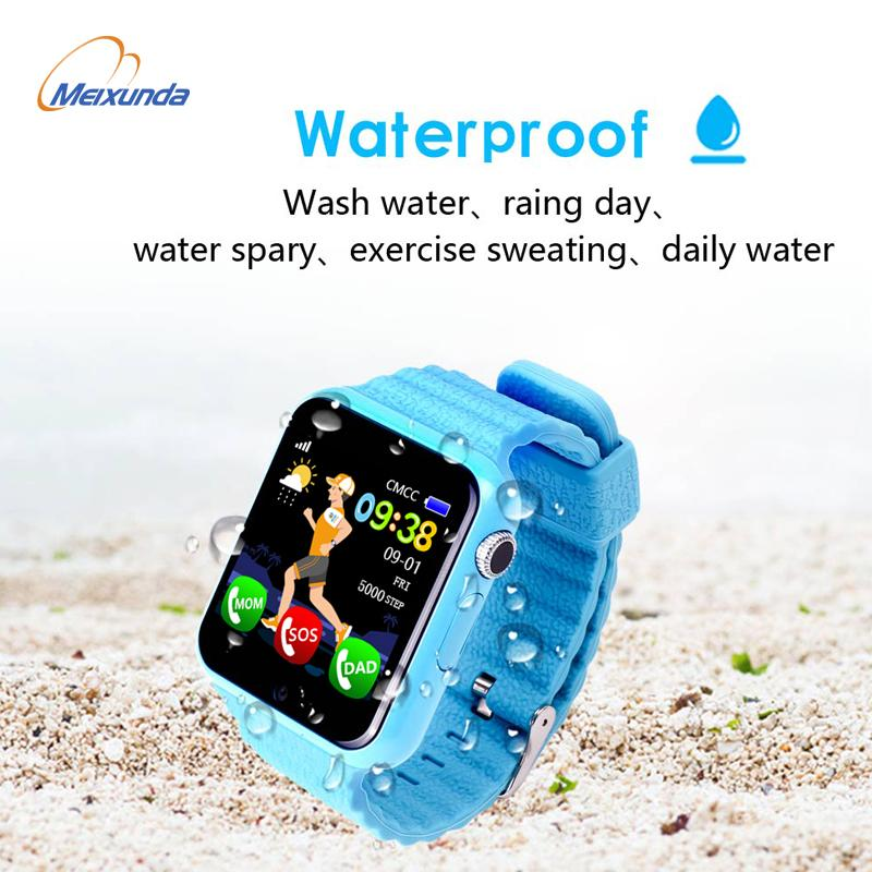2018 HOT Children Security Anti Lost GPS Tracker Waterproof Smart Watch V7K 1.54'' Screen Camera Kid SOS Emergency Android