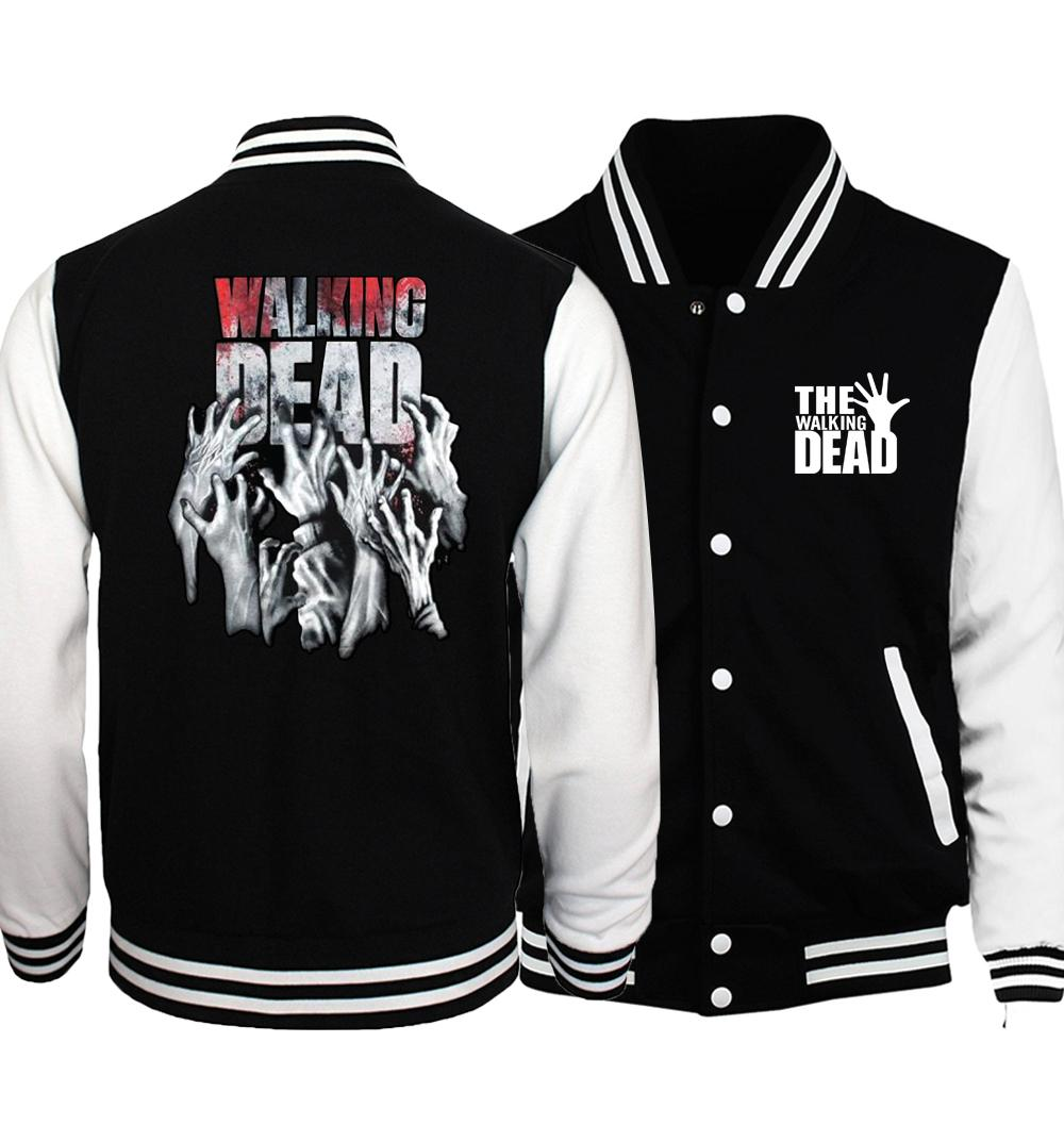 2017 Spring Hot The Walking Dead Men Jacket Hip Hop Coat Fashion Baseball Men's Jackets Sportswear Brand Clothing Tracksuits