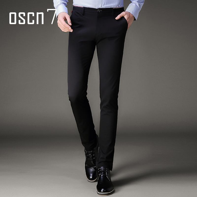 447db2536b Compre OSCN7 Stretch Pantalones De Vestir Para Hombre Slim Fit Ocio Pantalones  Para Hombre Formal Plus Size Perfume De Moda De Verano Vestido De Traje ...