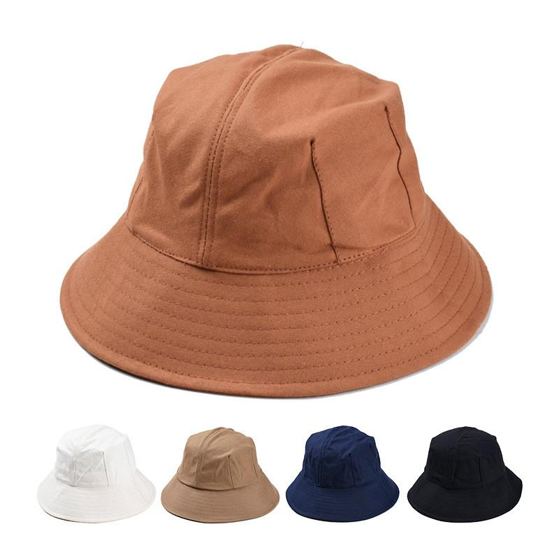 2019 Korean Version Simple Pure Color Octagonal Bowl Cap High Quality  Cotton Canvas Fisherman Hat Woman Fashion Summer Hat Wholesale From Iqy021 e776c779f71