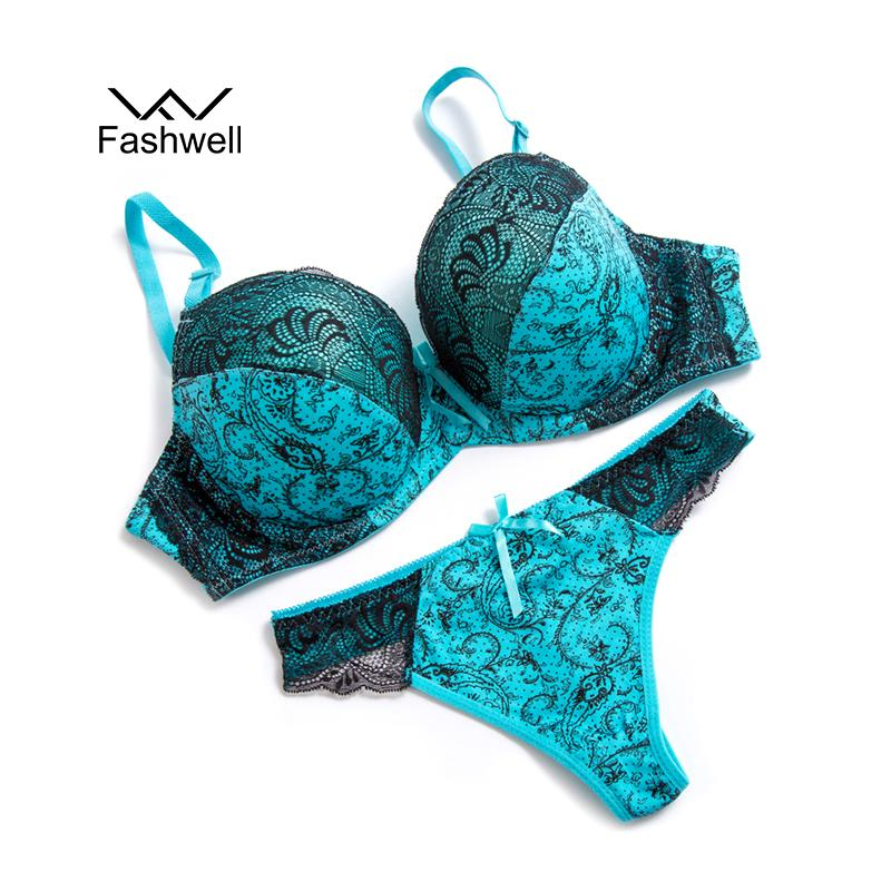 45cafa9ee08 Fashwell Sexy Push Up Lace Women Underwear Panty Set Set Intimates ...