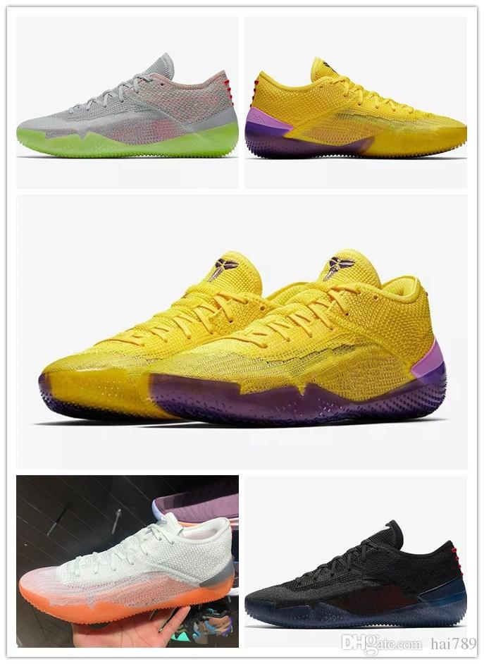 factory price e1d27 70e8f Compre Zapatos De Baloncesto De Kobe De Alta Calidad AD NXT 360 Huelga  Amarilla Infrarrojos Multi Color Negro Multicolor Kobe Bryant Hombres  Zapatillas De ...