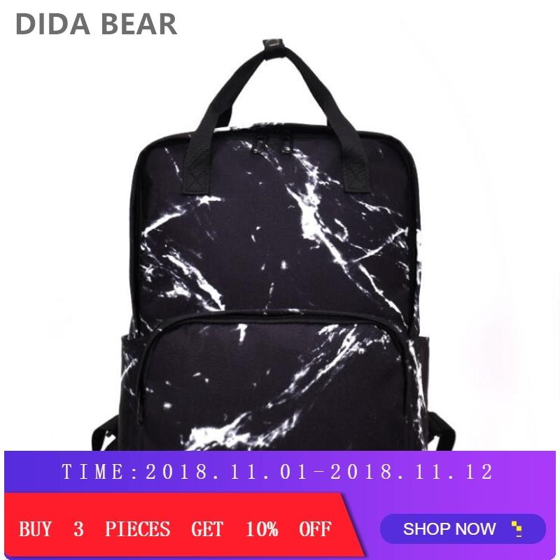 2019 Fashion DIDA BEAR Fashion Women Backpacks Female Canvas School Bag For Teenagers  Girls Travel Rucksack Large Space Backpack Sac A Dos Laptop Backpack ... 3d2b31833a9f2
