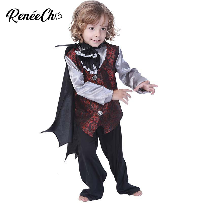 Halloween Costumes For Kids Boys 10 And Up.Reneecho Halloween Costume For Kids Boy Gothic Vampire Costume Halloween Child Cosplay Royal Carnival For 5 10 Year Old
