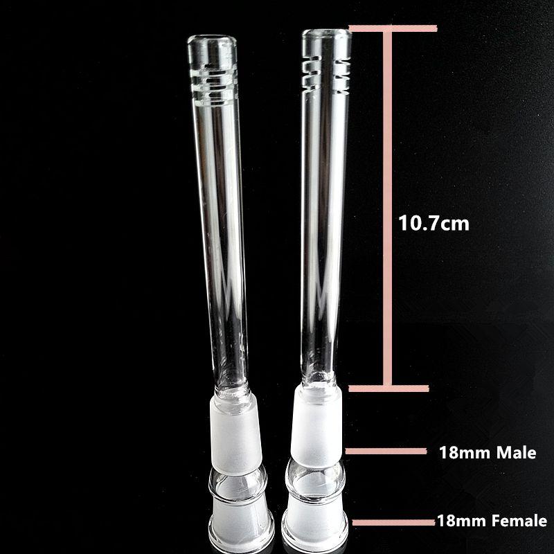 Handcraft Glass Downstem Pipe 14.5mm 18.8mm Female 14mm 18mm Thick Glass Downstem Diffuser Down Stem Pipes Bong Glass Downstems