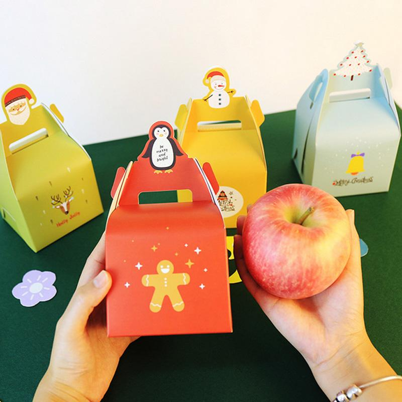 Großhandel 5 Stücke Geschenk Obst Papier Box Frohe Weihnachten ...
