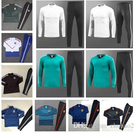 7353e3ef1 2019 2018 2019 World Cup Belgium Russia Soccer Tracksuit Argentina MESSI  National Team Mexico Spain Tracksuit Football Uniforms Sale From Zhuhao2