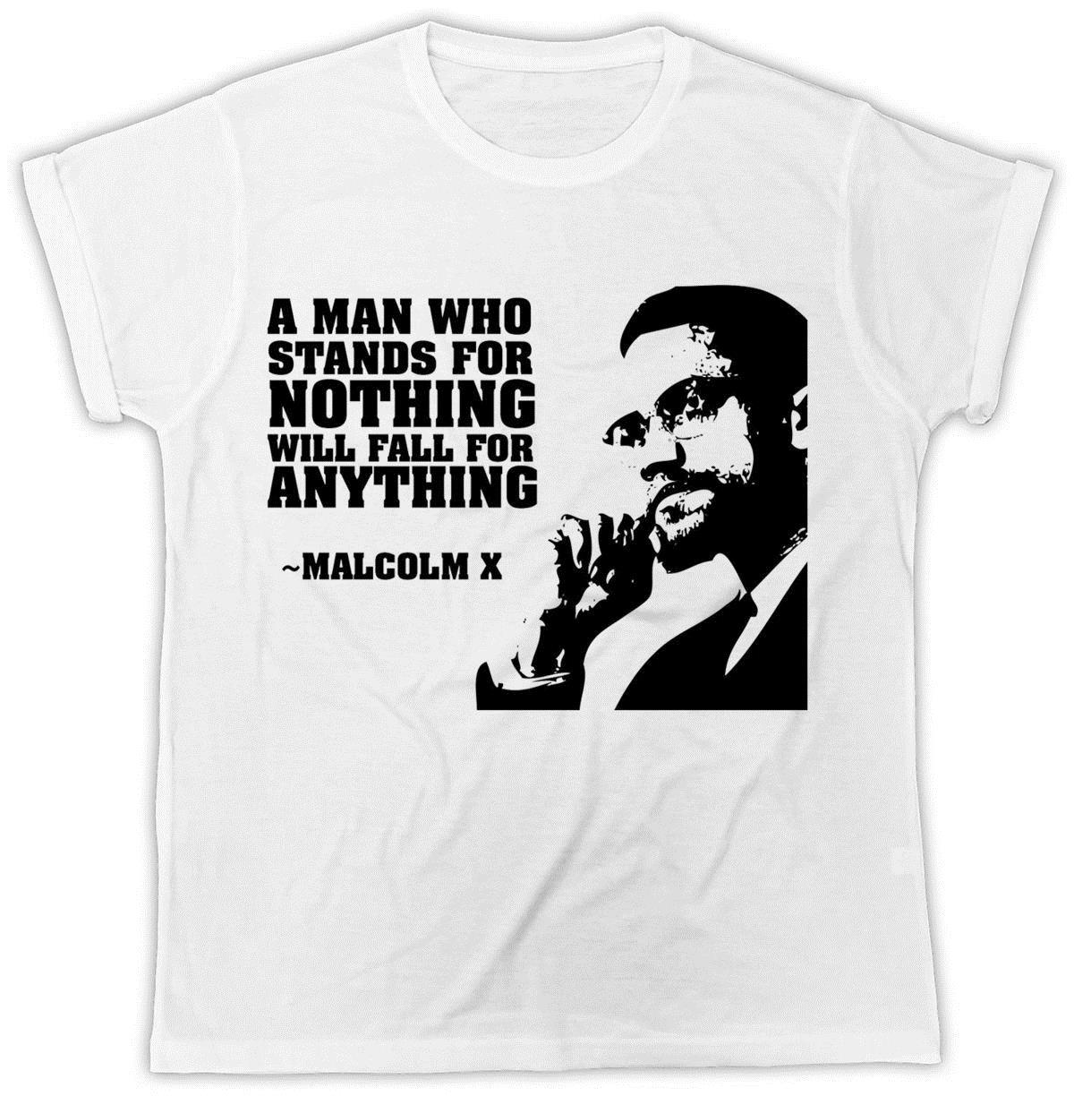 Malcolm X T Shirt Famous Quotes Black Rights Novelty Unisex Tshirt O