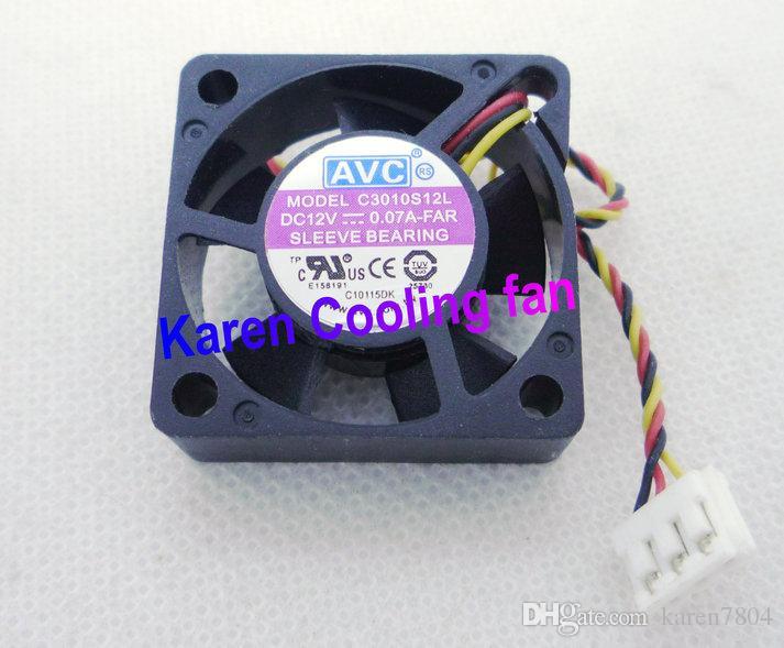 AVC 3010 C3010S12H 12V 0.1A C3010S12L Ventilateur silencieux, Ventilateur HDD, Ventilateur pour unité centrale de traitement pour ordinateur portable, Ventilateur de refroidissement