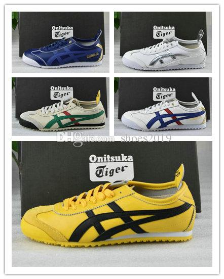 brand new 3bf7a c3471 NEWAsics Tiger Bruce lee Flat Onitsuka Running Shoes Mens And Womens  Comfortable Leather Zapatillas Athletic Outdoor Sport Sneakers