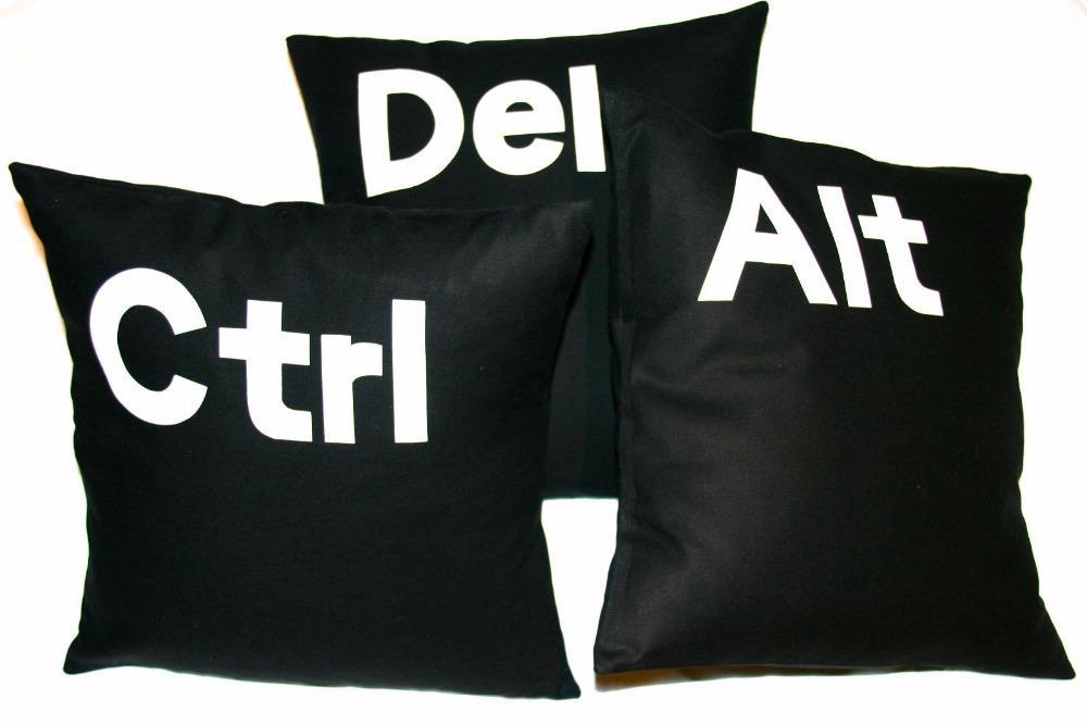 Letter Cushion Cover Home Decor Black White Decorative Pillows Case