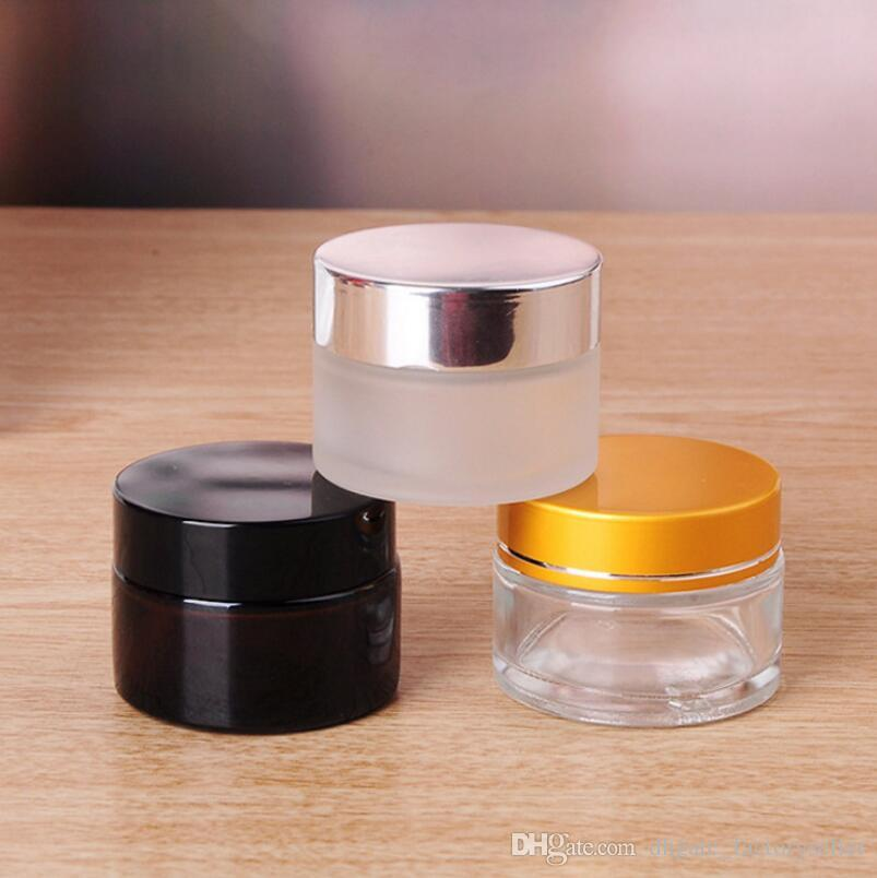 5g/5ml 10g/10ml Cosmetic Empty Jar Pot Eyeshadow Makeup Face Cream Container Bottle with Lid and Inner Pad LX4056