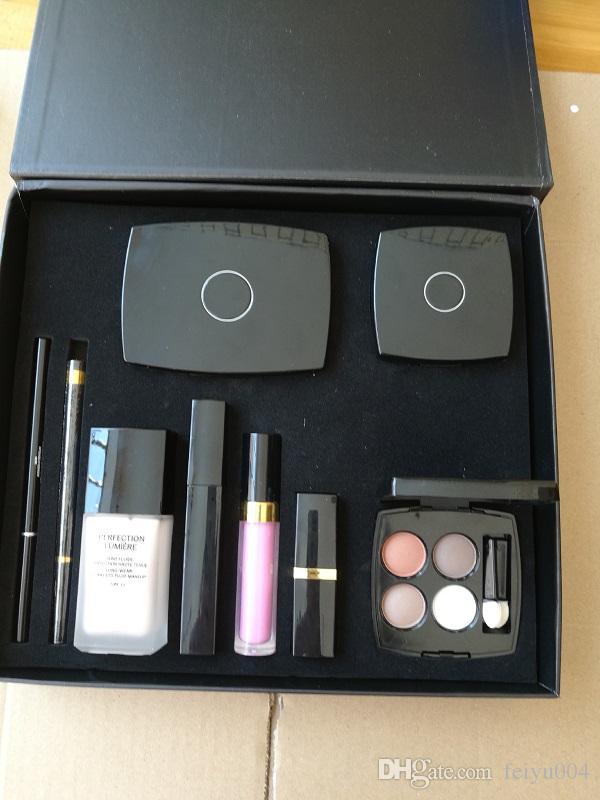 Hot New Cosmetics Concealer Sopracciglio Matita Blush Rossetto Eyeliner Matita di Eyeliner di alta qualità Kit di trucco Grande scatola impostata Spedizione gratuita