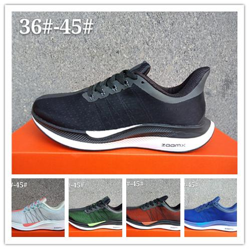 6736ddbfc06 Air Zoom Pegasus Turbo 35 Men Running Shoes Sport Black White ...