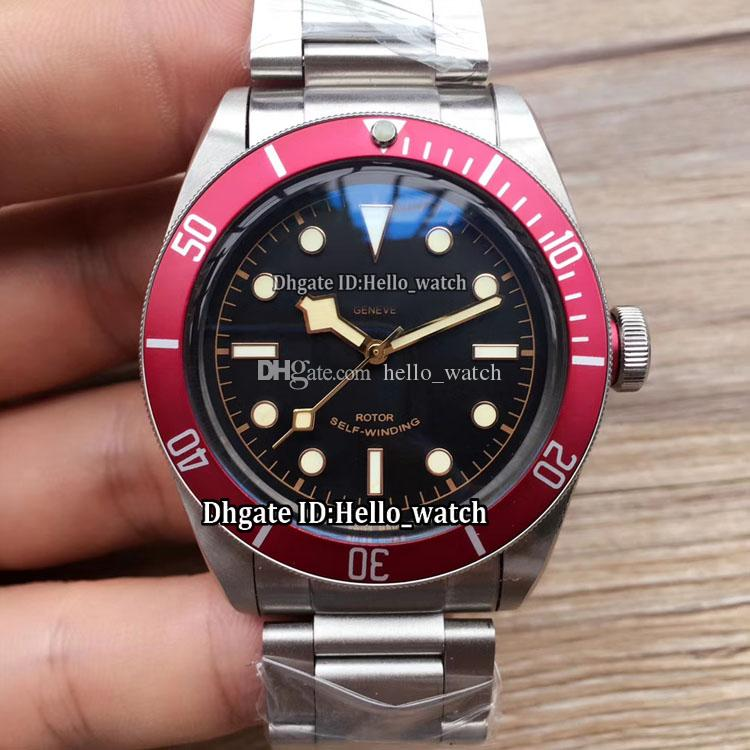 cf4434e7ace94 New Heritage Black Bay 79220R Black Dial Japan Miyota NH35 Automatic Mens  Watch Red Bezel Sapphire Glass Stainless Steel Band Gents Watches Great  Watches ...
