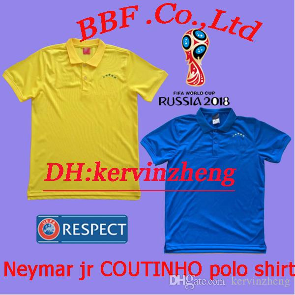 Thailand Soccer Jerseys 2018 Polo Shirt NEYMAR JR Jersey JESUS ... b9c6f56de