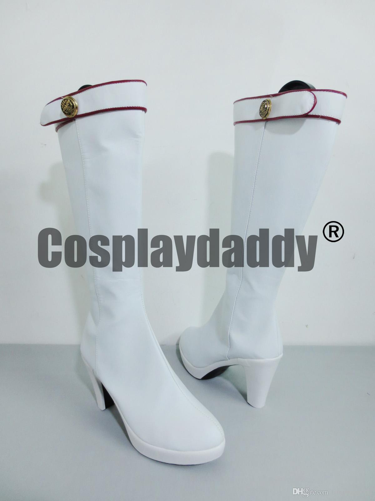 Tekken 6 Lili Beyaz Cadılar Bayramı Uzun Cosplay Ayakkabı Çizme