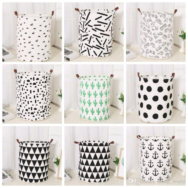 Superieur 2018 Toy Storage Baskets Ins Canvas Storage Bags Cactus Printed Bins Bucket  Clothing Organizer Kids Room Laundry Bag 9 Designs Yw459 From Bling_world,  ...