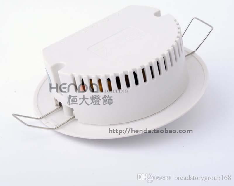 Geagood Human Body Sensor Switch 220V Infrared Sensor Switch White Round Sensor Switch PIR Embedded Ceiling Type 3 Wire System