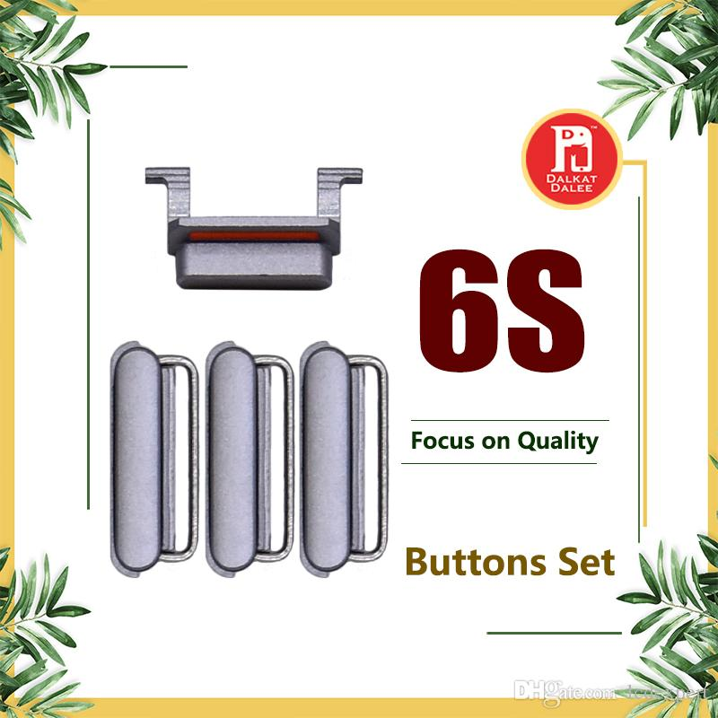 3 in 1 Side Button Set Lock Power Key Switch ON / OFF Buttons + Mute Switch Button Key + Volume Key For iPhone 6S