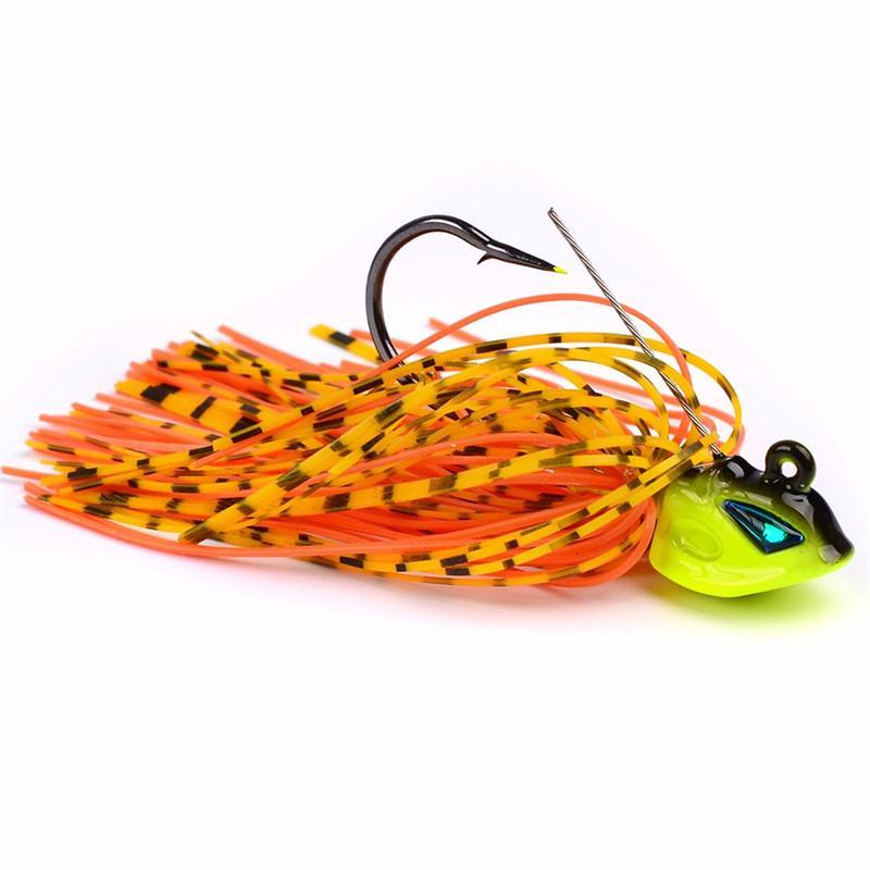 Bigotes Squid Bass Jigs Spinner Cebo de pesca 8cm 13g Beard Tail 3D Realistic Fish Eyes Señuelo con Big Single Hook