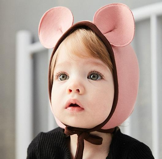 Lovely Baby Cartoon Ear Hats with String Fall 2018 Baby Boutique ... 88ffdee101a9