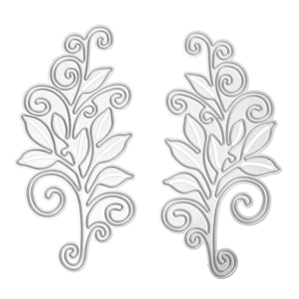 2Pcs Metal Cutting Dies Flower Stencil for DIY Scrapbooking Dies Photo Album Paper Card Decorative Embossing Folder