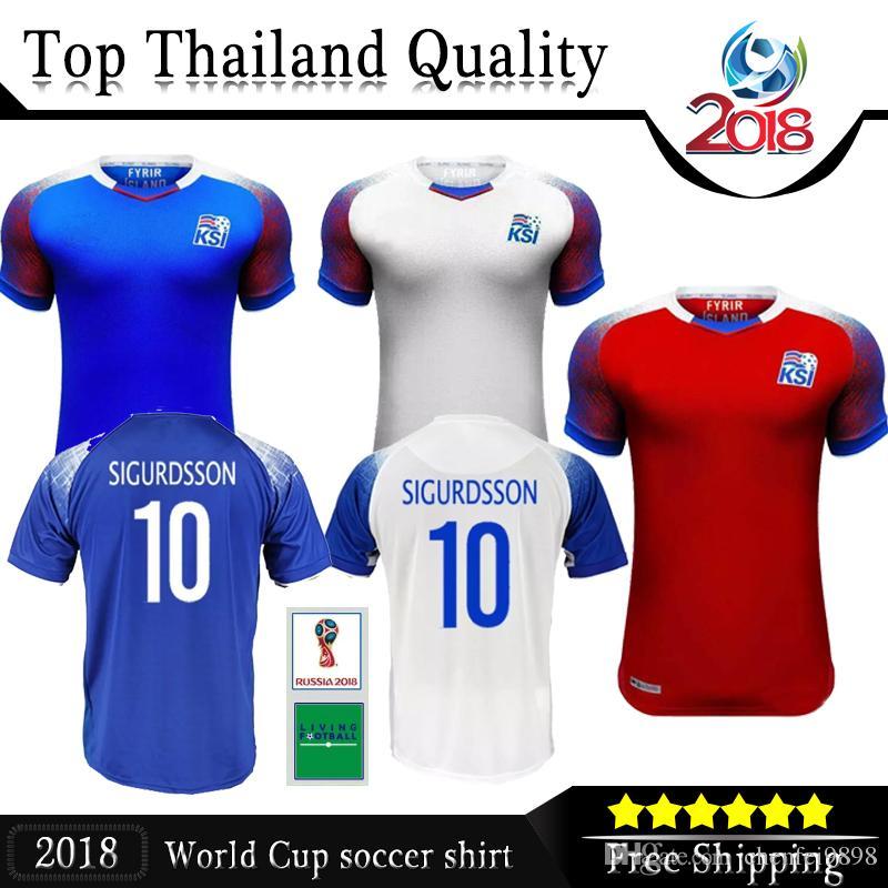aa191ee5743 2018 World Cup Iceland Home away goalkeeper Halldórs Soccer Jerseys 6  GUDMUNDSSON 9 SIGTHORSSON 10 G.SIGURDSSON TRAUSTASON Football Shirts