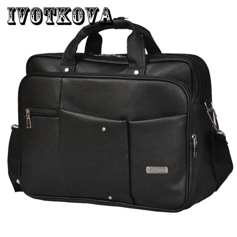 e3f21af76a83 IVOTKOVA Pu Leather Men Bags Fashion Messenger Bag Man Laptop Bag ...