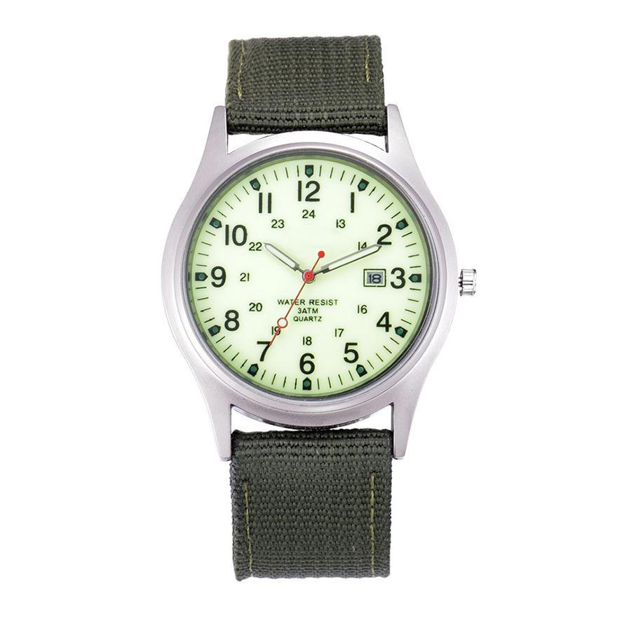 ddeaed14a3ee Compre Hot Famous Watches Hombres Reloj De La Marca De Lujo Soldado Del  Ejército Militar Fecha Lienzo Cuarzo Relojes De Pulsera Reloj Deportivo  Relogio ...
