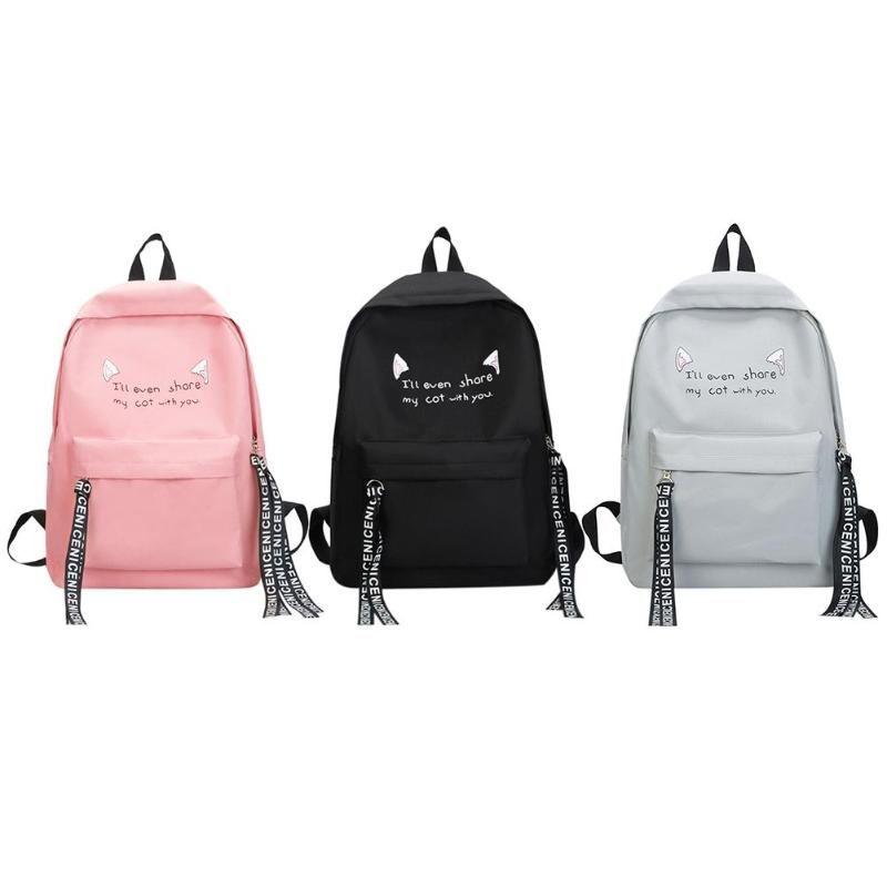 a824c13cfd Preppy Style Women Backpack Cartoon Printed Bag Casual Nylon Rucksack  Softback Travel Student Teen Girl Shoulder School Bag Designer Backpacks  College ...