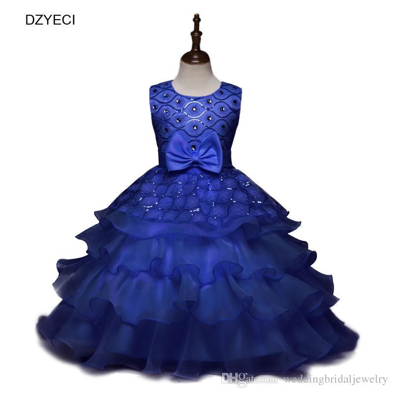f2daaf7af Carnaval Costumes For Kids Girl Dresses Elegant Children Bow Lace ...