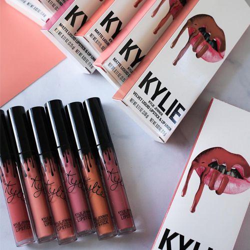 Satın Al 41 Renkler Kylie Jenner Ruj Lipgloss Lipliner Lipkit Kadife