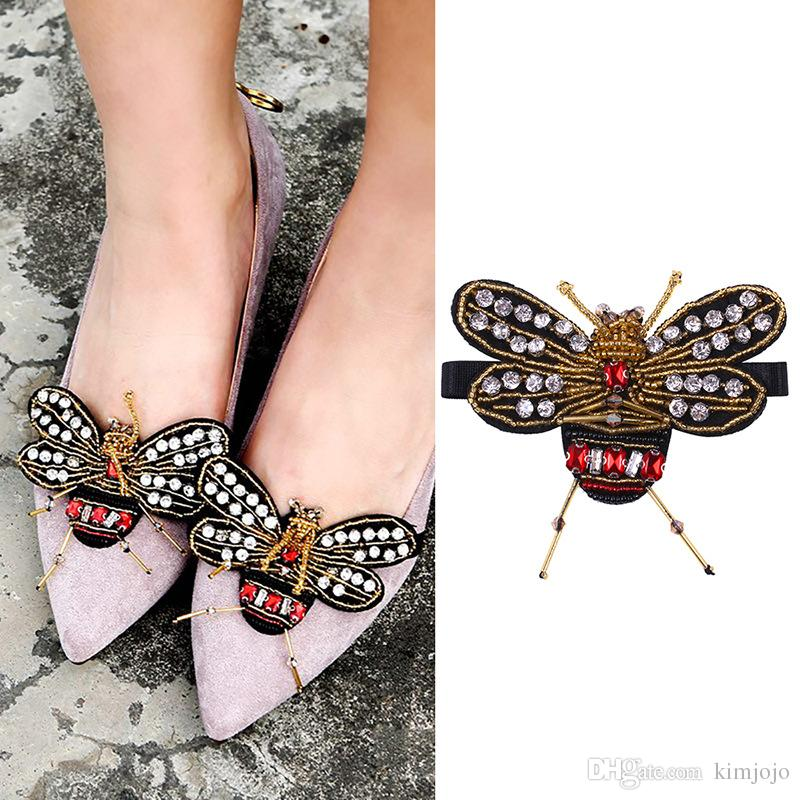 37659e727 2019 Beautiful Bee Shoe Decorations Sandals High Heels Shoes Button Clip  DIY Manual Metal Decoration From Kimjojo, $4.2 | DHgate.Com