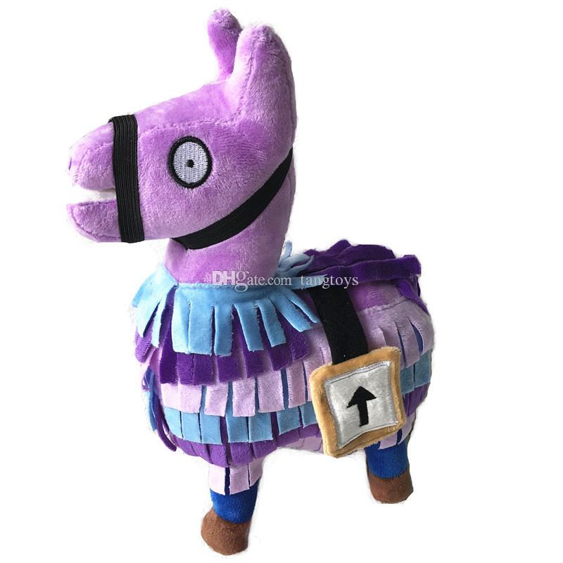 25cm Fortnite Stash Llama Plush Toy 10inch Soft Stuffed Doll Cartoon Fortnite Stuffed Animals Video Games Toys