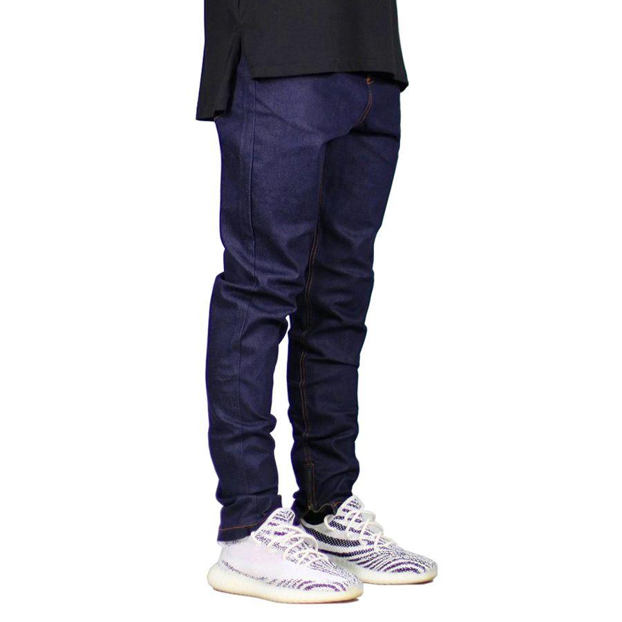 dc741943 Men Jeans Fashion Dark Blue Slim Fit Denim Stretch Zippers Jeans For Men  Online with $40.72/Piece on Blueofthesea's Store | DHgate.com