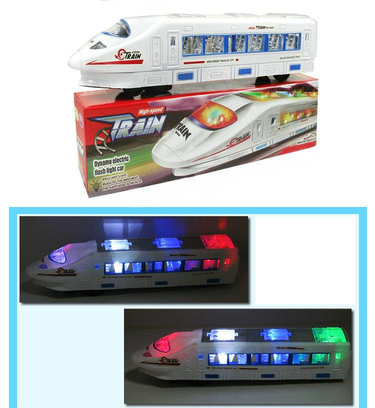 001 Elektrische Licht Musik Zug Spielzeug Hochgeschwindigkeitszug Batteriebetriebene Spielzeug Züge Modell Große Kinder Weihnachten Spielzeug ...