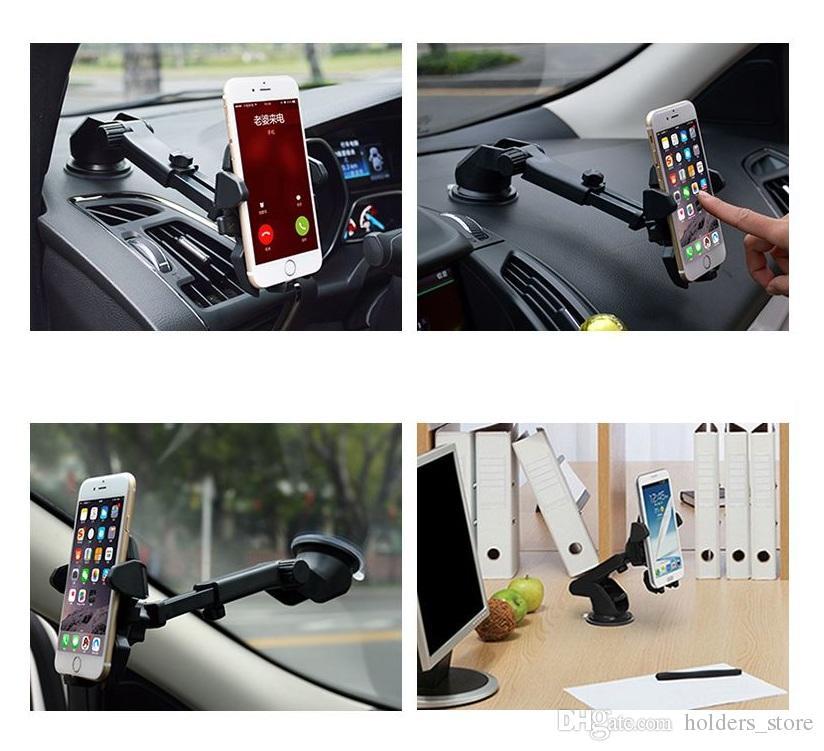 Flexible universal del largo coche-styling titular del teléfono del coche ayuda del soporte del teléfono para el iPhone Voiture X 8 7 6s Plus soporte para teléfono Samsung Xiaomi