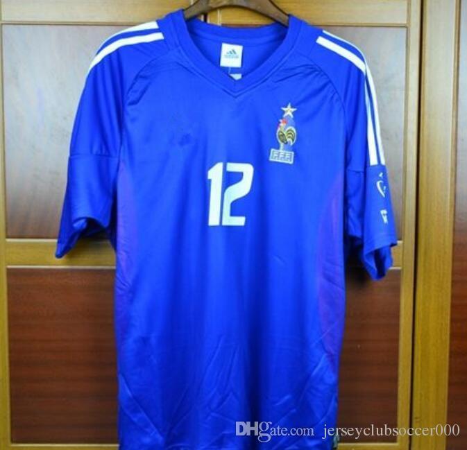 2004 Euro Retro Soccer Jerseys Zidane Trezeguet Henry 2002 World Cup ... d045a5f2f