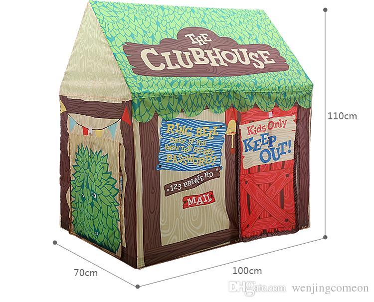 어린이 텐트 휴대용 어린이 텐트 DIY 놀이 집 Foldable 소녀 공주 성 어린이 야외 텐트 어린이 장난감 빵 가게