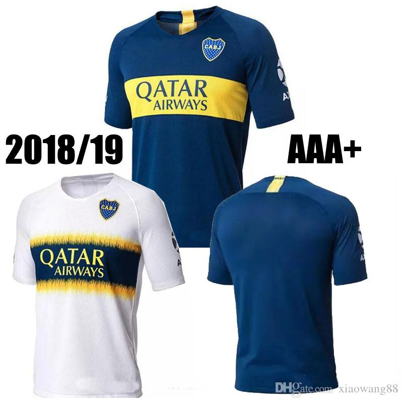 hot sale online 8eb49 e7422 .Latest 2018 2019 Boca Juniors soccer jersey home blue away white 18 19  Boca Juniors Cristian Pavon Benedetto Barrios Edwin Cardona football