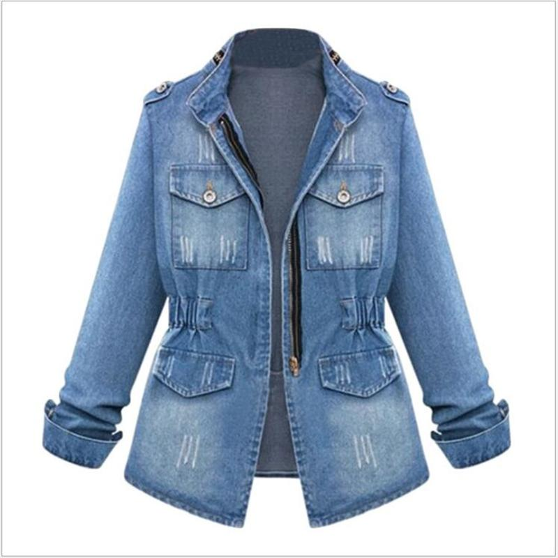 57280e8dc5b7f Autumn Plus Size Winter Coats Fashion Female Bomber Windbreaker Womens  Jackets Spring Denim Jacket TOPS Jaqueta K296 S18101205 Lightweight Jacket  Team ...