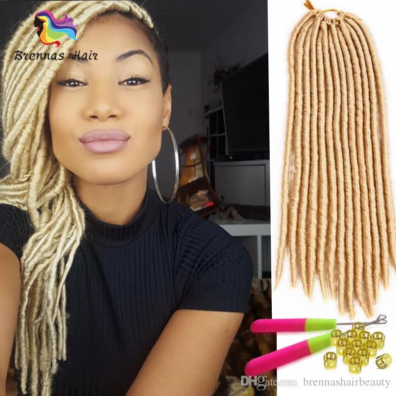 2018 New Synthetic Hair Faux Dread Locs Crochet Braid 18 Inch