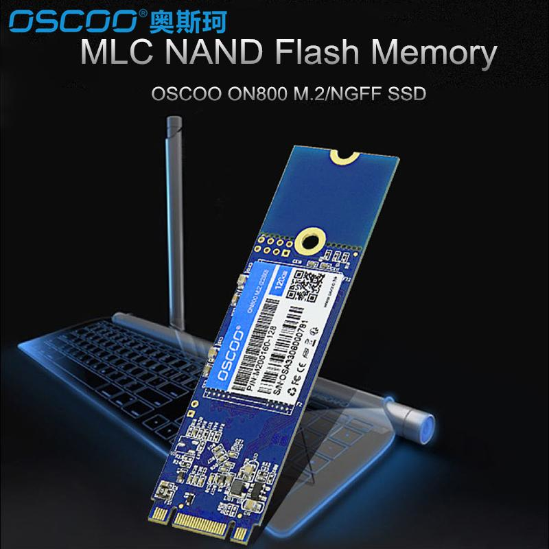 OSCOO MLC NAND FLASH SSD 60GB 120GB 240GB 480GB Internal Solid State Drive Hard Disk M.2 NGFF 2280 Interface For Laptop Desktop