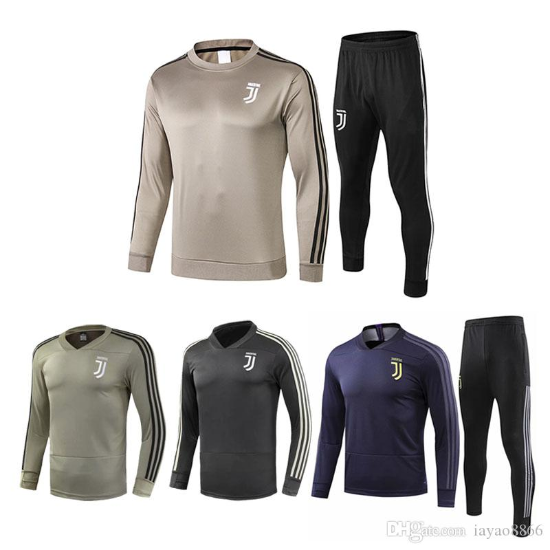 new styles f6670 b9aaa Top quality 2018 2019 Juventus soccer jersey training wear tracksuits 18 19  RONALDO HIGUAIN DYBALA MANDZUKIC Football uniform jacket Set Men