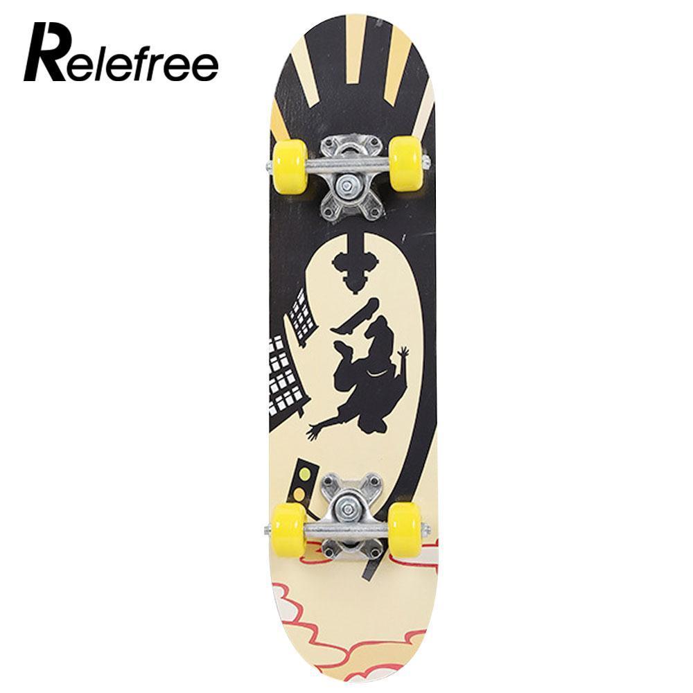 Compre Skate Board Moda Popular 3 Estilo Maple Wood Cuatro Ruedas Scooter  Adolescentes Completa Rueda De Polea De Skate A  60.84 Del Youtuo  75c2b23ce26