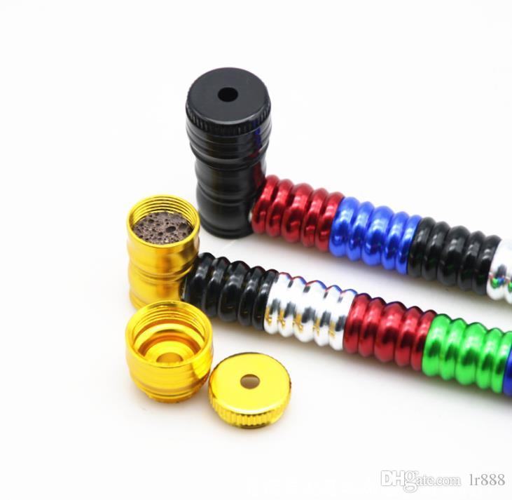 Tubo de metal roscado de mezcla de seis colores con accesorios de tubería de aleación de aluminio de 152MM