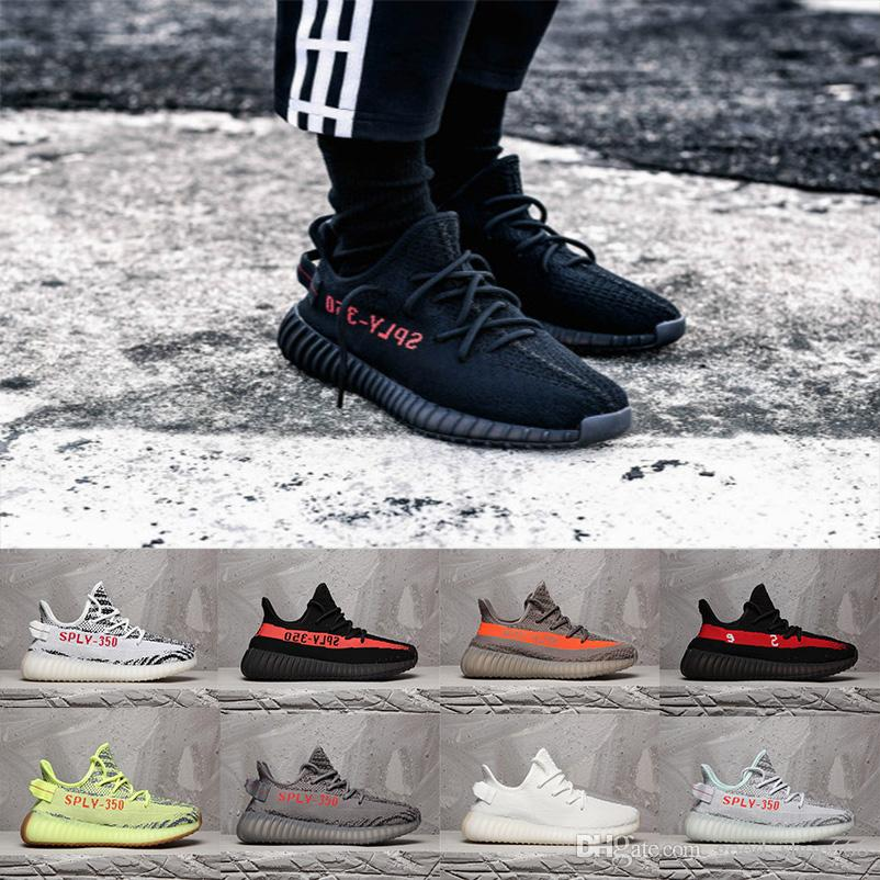 67a954929f741 2018 Top Quality New 350 V2 Kanye West Black Bred Blue Tint Women Men Mens  Luxury Designer Comfortable Running Shoes Sneakers Size 36-46 350 V2 350 350  ...